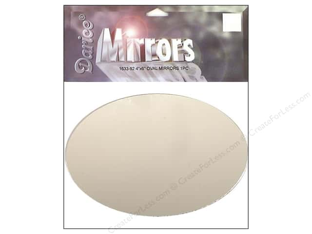 Darice Mirrors Oval 4 x 6 in. 1 pc. (3 packages)