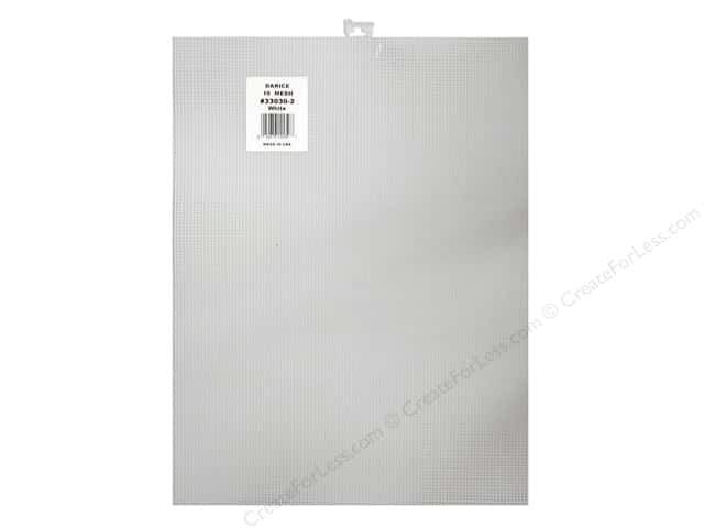 Darice Plastic Canvas #10 Mesh 10 1/2 x 13 1/2 in. White Rectangle