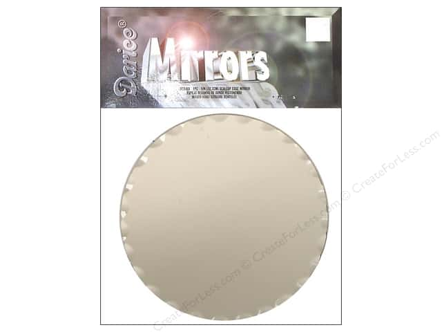 Darice Mirrors Round Scallop Edge 5 in. 1 pc.