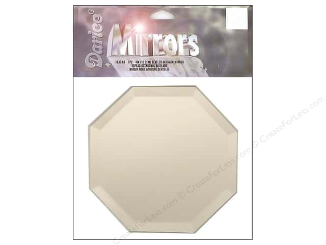 "Darice Mirrors Octagon Bevel 4"" 1pc"