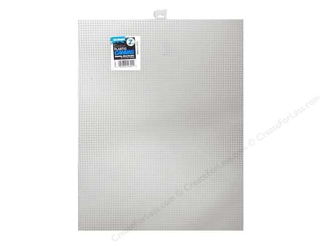 Darice Plastic Canvas #7 Mesh 10 1/2 x 13 1/2 in. White Rectangle (12 sheets)