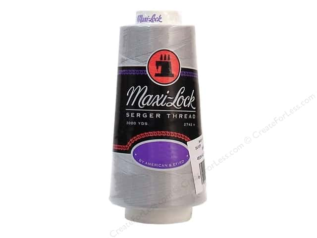Maxi-Lock Serger Thread 3000 yd Silver