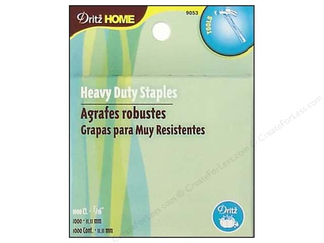 Heavy Duty Refill Staples by Dritz Home 7/16 in. 1000 pc.