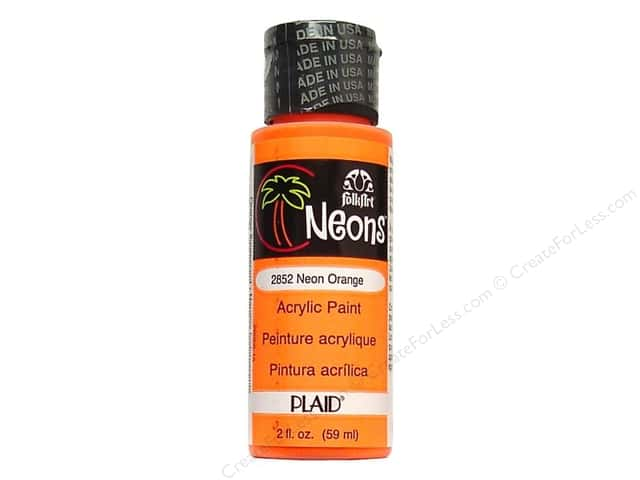 Plaid FolkArt Acrylic Paint 2 oz. #2852 Neon Orange