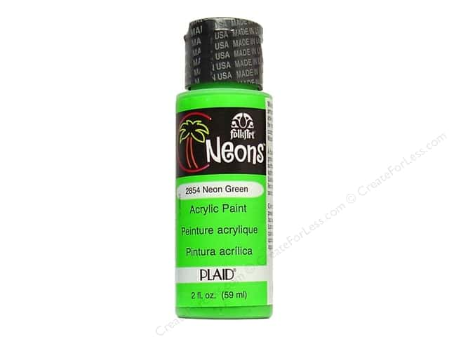 Plaid FolkArt Acrylic Paint 2 oz. #2854 Neon Green