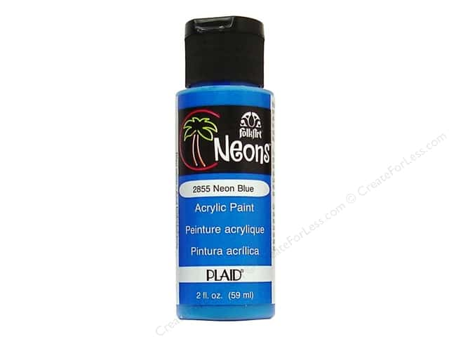 Plaid FolkArt Acrylic Paint 2 oz. #2855 Neon Blue