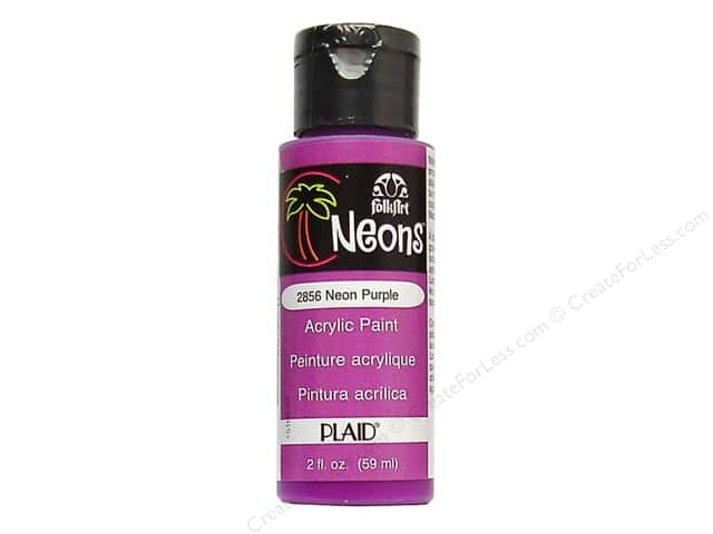 Plaid FolkArt Acrylic Paint 2 oz. #2856 Neon Purple