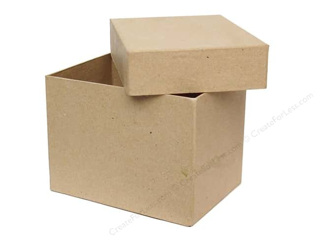 Paper Mache Tall Rectangle Box 4 x 5 1/2 in. by Craft Pedlars (12 pieces)