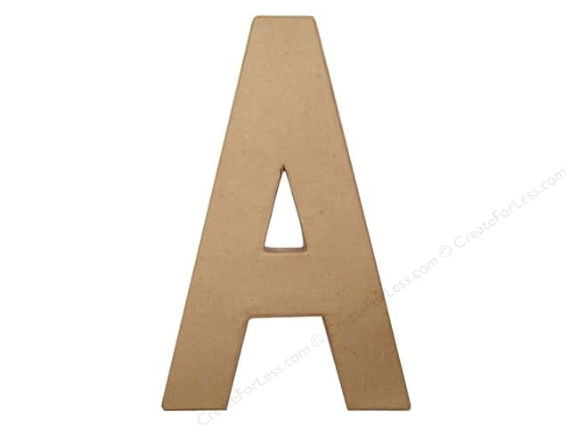 Paper Mache Letter A by Craft Pedlars 4 in. (3 pieces)