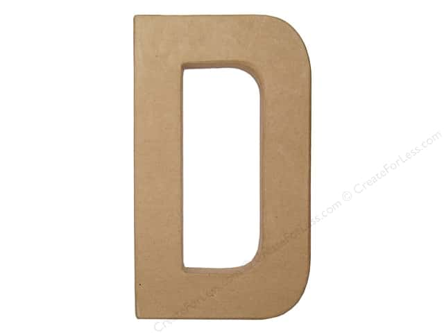Paper Mache Letter D by Craft Pedlars 8 in.