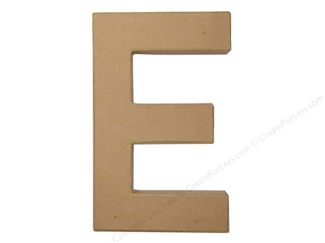 Paper Mache Letter E by Craft Pedlars 8 in.