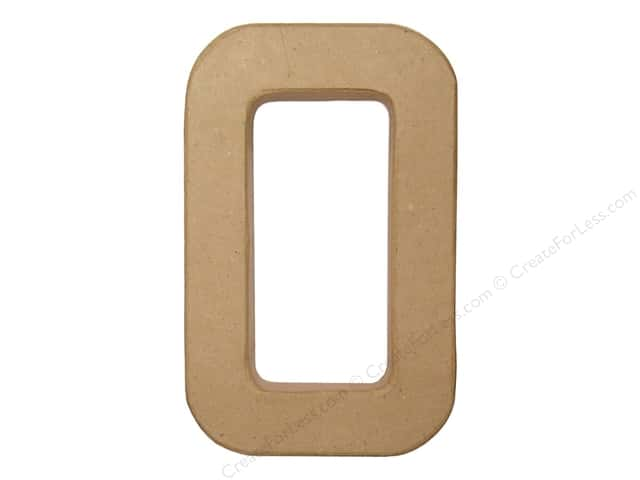 Paper Mache Letter O by Craft Pedlars 8 in.