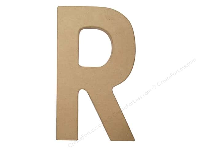 Paper Mache Letter R by Craft Pedlars 8 in.