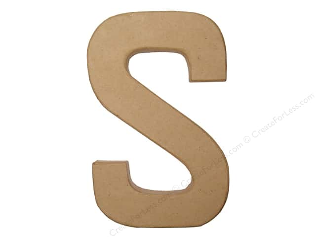 Paper Mache Letter S by Craft Pedlars 8 in.