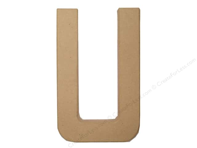 Paper Mache Letter U by Craft Pedlars 8 in.