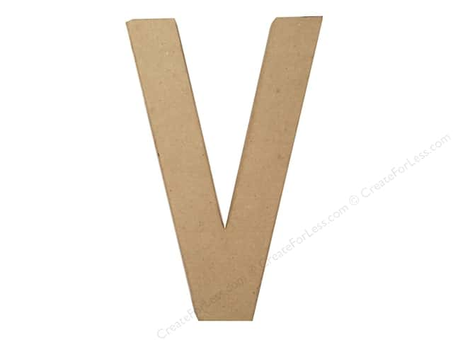 Paper Mache Letter V by Craft Pedlars 8 in.