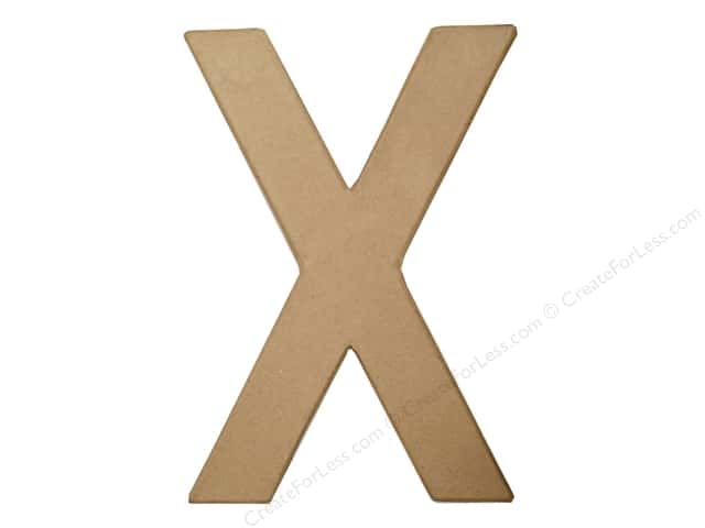 Paper Mache Letter X by Craft Pedlars 8 in.
