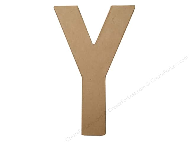 Paper Mache Letter Y by Craft Pedlars 8 in.