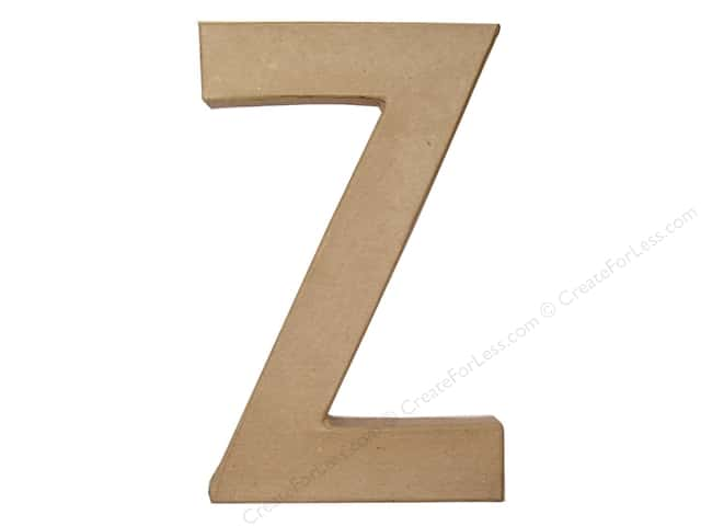 Paper Mache Letter Z by Craft Pedlars 8 in.