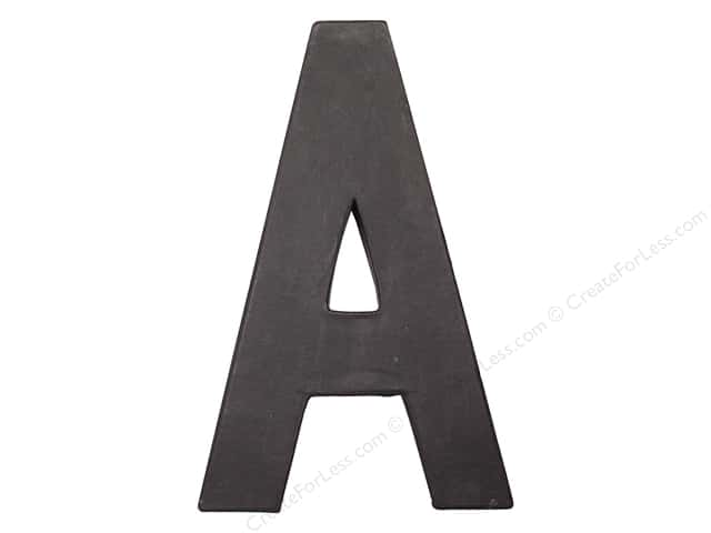 Paper Mache Letter A by Craft Pedlars Black 8 in.
