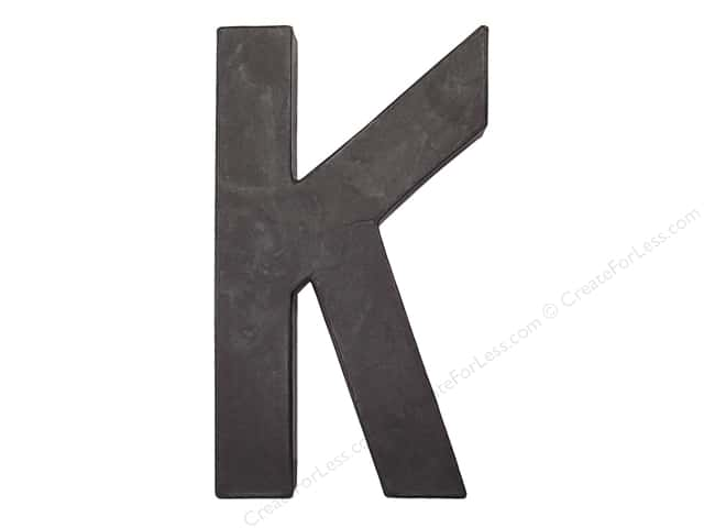 Paper Mache Letter K by Craft Pedlars Black 8 in.