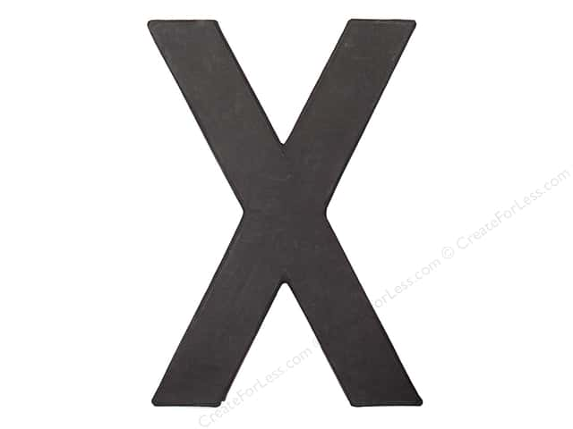 Paper Mache Letter X by Craft Pedlars Black 8 in.