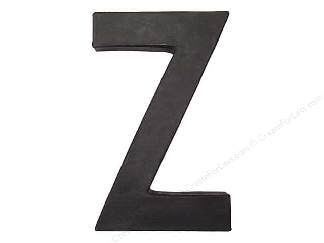 Paper Mache Letter Z by Craft Pedlars Black 8 in.