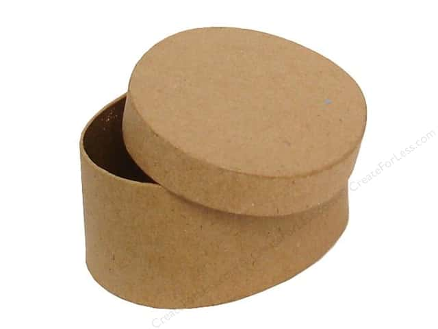 Paper Mache Mini Oval Box by Craft Pedlars (36 pieces)