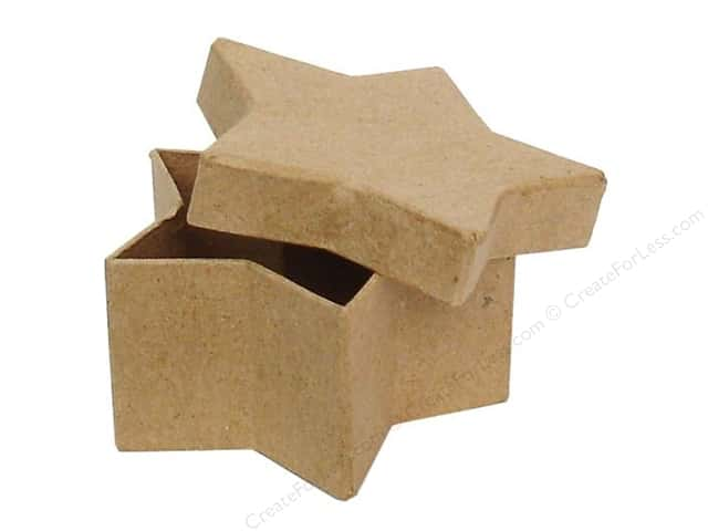 Paper Mache Mini Star Box by Craft Pedlars (36 pieces)