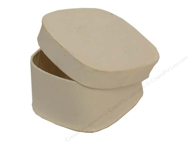 Paper Mache Box Mini Rectangle with Round Corners Vanilla by Craft Pedlars (36 pieces)