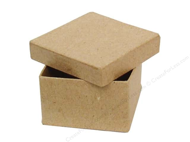 paper mache mini square box by craft pedlars 36 pieces
