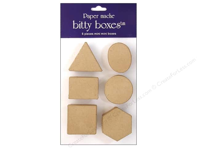 Paper Mache Box Bitty Assorted 6pc by Craft Pedlars