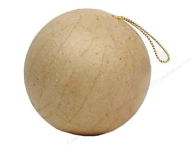 Paper Mache Ornament Ball Mini by Craft Pedlars (3 pieces)