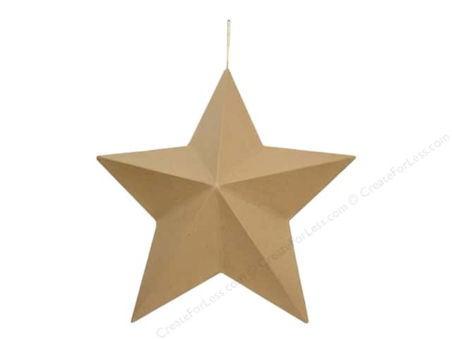 Paper Mache Star 3D extra large by Craft Pedlars 18 in.