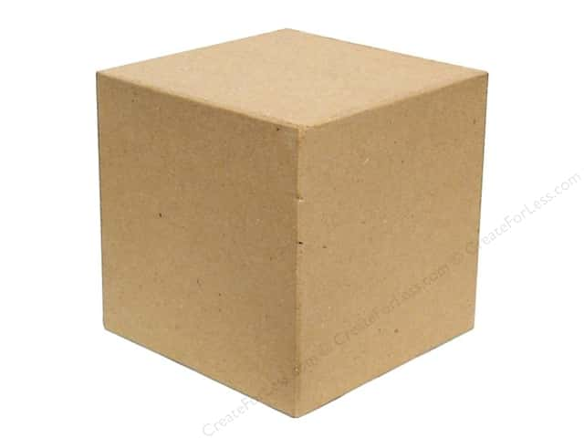 Paper mache block square by craft pedlars 4 in for Large wooden blocks for crafts
