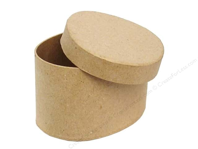 Paper Mache Oval Box 4 1/2 in. by Craft Pedlars (24 pieces)
