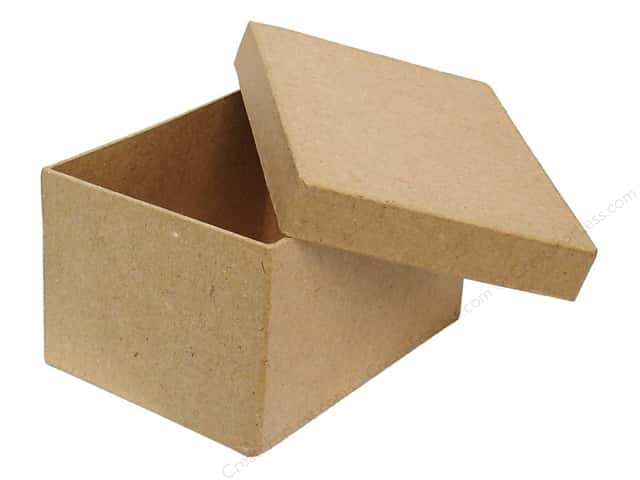 Paper Mache Rectangle Box 4 1/2 in. by Craft Pedlars (24 pieces)