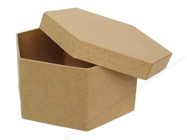 Paper Mache Hexagon Box 4 1/2 in. by Craft Pedlars (24 pieces)