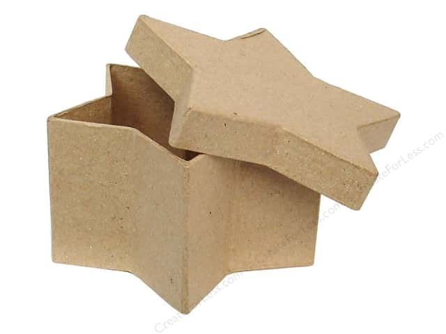 Paper Mache Star Box 4 1/2 in. by Craft Pedlars (24 pieces)
