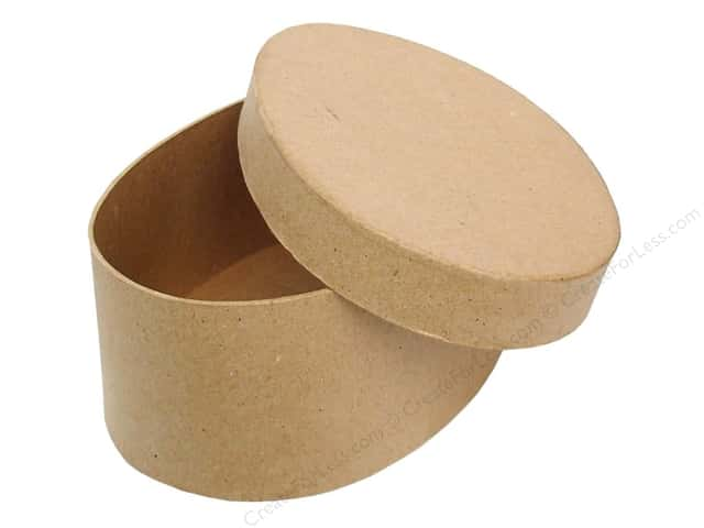 Paper Mache Oval Box 7 1/2 in. by Craft Pedlars (12 pieces)