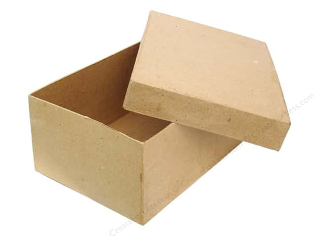 paper mache rectangle box 7 1 2 in by craft pedlars