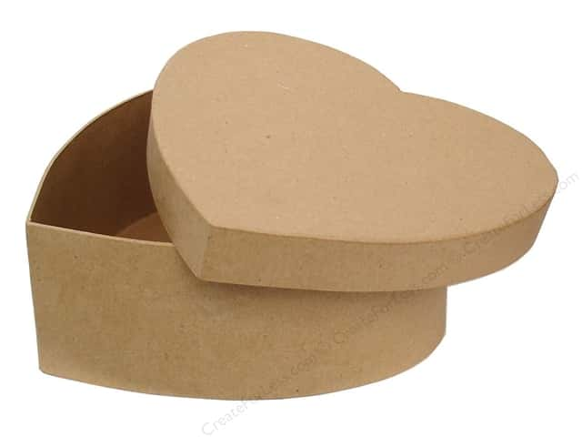 Paper Mache Heart Box 7 1/2 in. by Craft Pedlars (12 pieces)