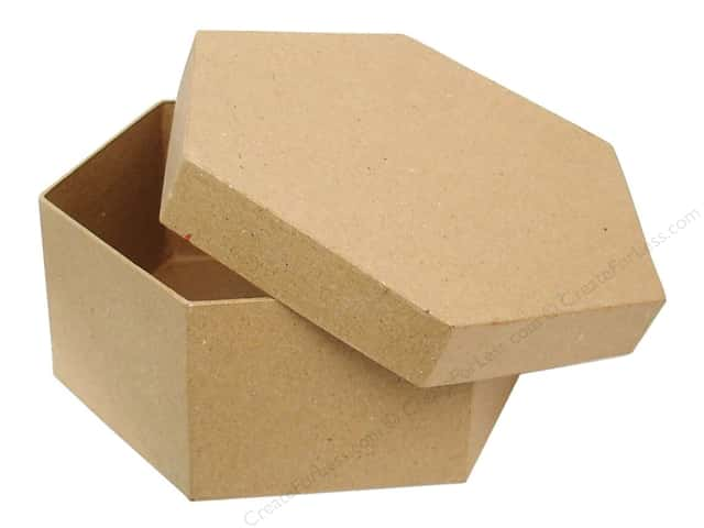 Paper Mache Hexagon Box 7 1/2 in. by Craft Pedlars (12 pieces)