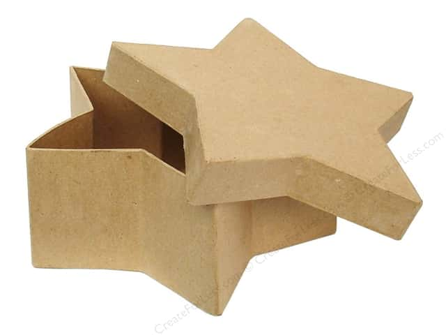 Paper Mache Star Box 7 1/2 in. by Craft Pedlars (12 pieces)