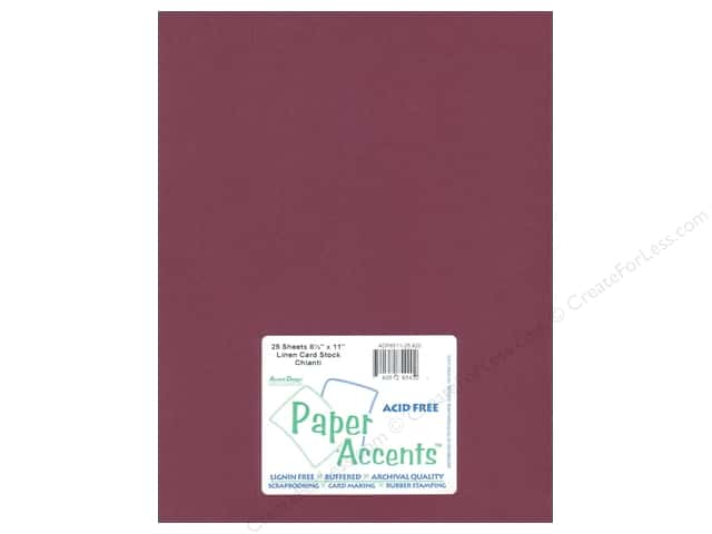Cardstock 8 1/2 x 11 in. #420 Linen Chianti by Paper Accents (25 sheets)