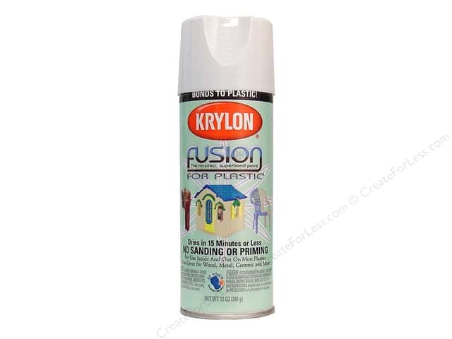 Krylon Fusion for Plastic Paint 12 oz. Gloss White