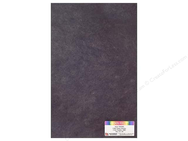 National Nonwovens WoolFelt 12 x 18 in. 35% Licorice (12 sheets)