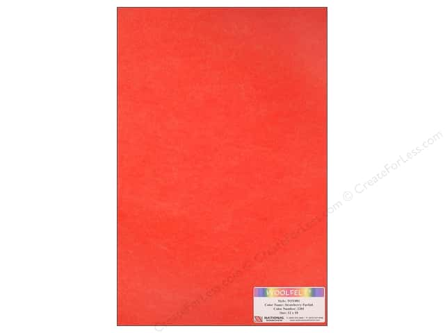 National Nonwovens WoolFelt 12 x 18 in. 35% Strawberry Parfait (12 sheets)