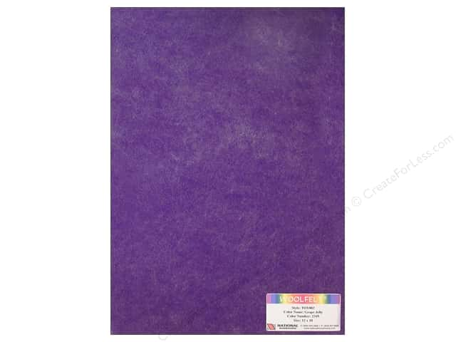 "National Nonwovens WoolFelt 12""x 18"" 35% Grape Jelly (12 sheets)"