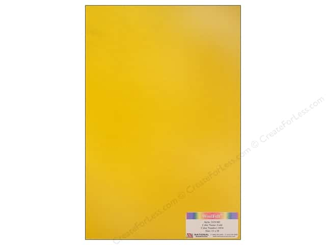 "National Nonwovens WoolFelt 12""x 18"" 35% Gold (12 sheets)"